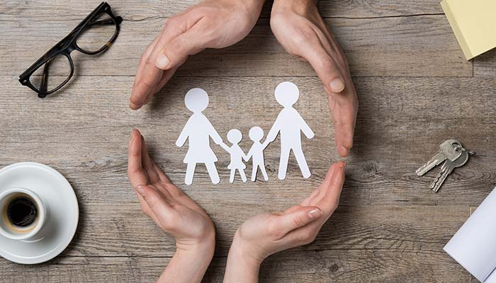 Decorative image representing family and community