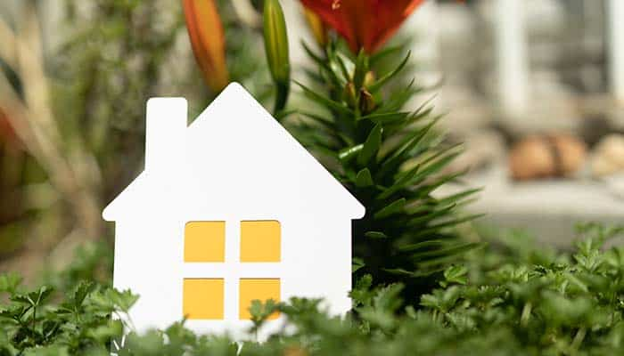 Small house shaped decorative ornament